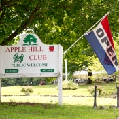 Apple Hill Golf Welcome Sign